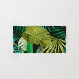 Tropical Leaf Pattern Hand & Bath Towel