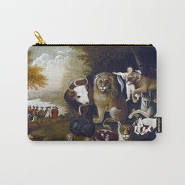 Edward Hicks The Peaceable Kingdom Carry-All Pouch