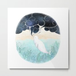 Beluga Dreams Metal Print