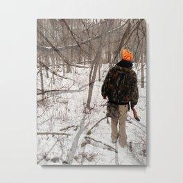 Walk Through the Woods Metal Print