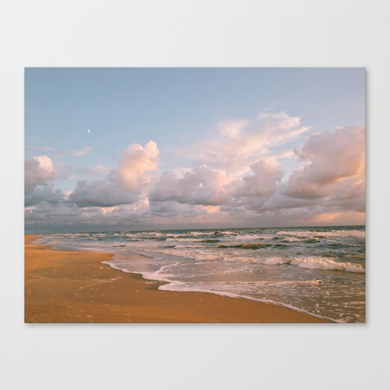 Moon over the Beach Canvas Print