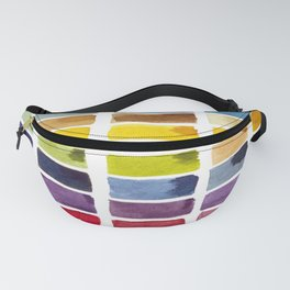 Watercolor Rainbow Tile Fanny Pack