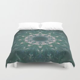 Amazon Emerald Gemstone Mandala No. 39 Duvet Cover