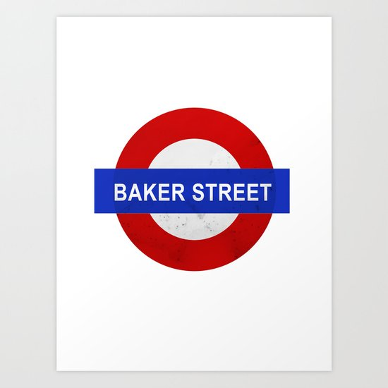 Sherlock Baker Street Print Art Print