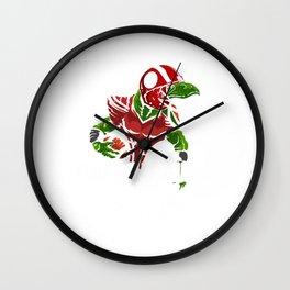 Cool Footballsaurus Rex T-Rex Football Gift Idea Wall Clock