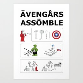 Superheroes Assembling - Colour Art Print