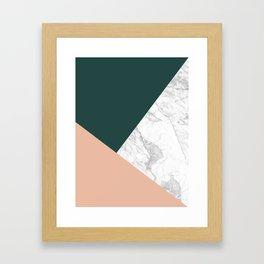 Stylish Marble Framed Art Print