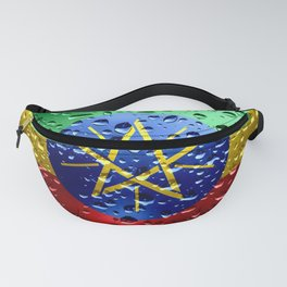 Flag of Ethiopia - Raindrops Fanny Pack