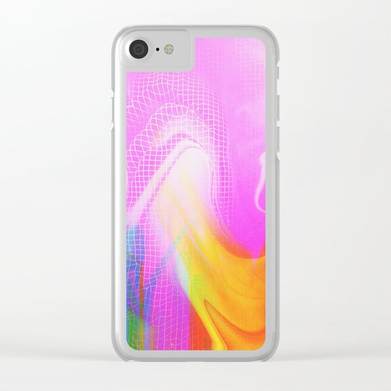 Glitch 26 Clear iPhone Case