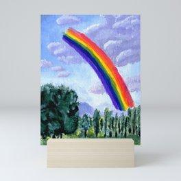 lillooet rainbow Mini Art Print