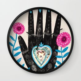 Heart in your hand Wall Clock