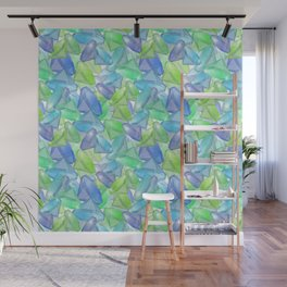 Placer precious stones, yellow , green , blue . Wall Mural