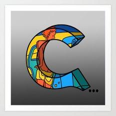 Letter C... Art Print