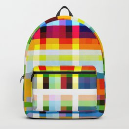 colorful geometric retro design Muscaliet Backpack