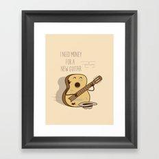 new guitar Framed Art Print
