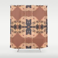 persian Shower Curtains featuring Persian Qajar Painting Polygon by Nahal