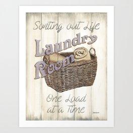 Vintage Laundry Room 2 Art Print