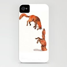 Jumping Red Fox Slim Case iPhone (4, 4s)