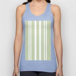 Plain Seafoam Green and White Stripes Design Unisex Tank Top