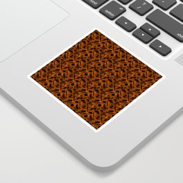 Stylish design with rotating circles and bronze rectangles from dark stripes Sticker