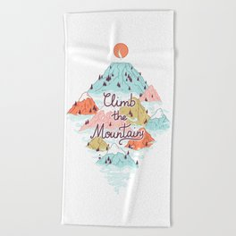 Misty Mountains Beach Towel
