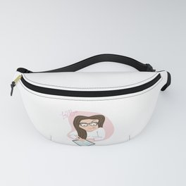 Lady boss vector character illustration Fanny Pack