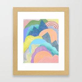 Modern Landscapes and Patterns Framed Art Print