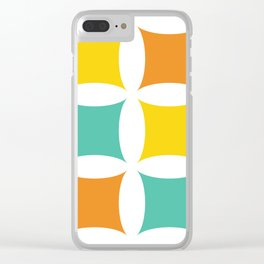Retro Mid-Century Modern II Clear iPhone Case