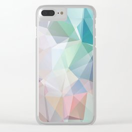 Delicate green polygonal pattern . Clear iPhone Case