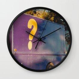 ? - shot with a film camera Wall Clock