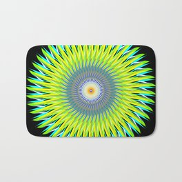 Green Machine Spiral Art Design Bath Mat