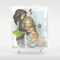 kili Shower Curtains featuring Kili and Mer!Fili by AlyTheKitten
