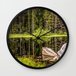 Quiet Forest lake Wall Clock