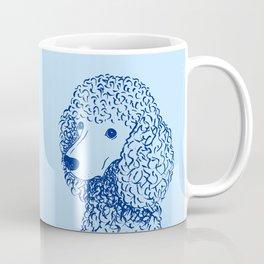 Poodle (Light Blue and Blue) Coffee Mug