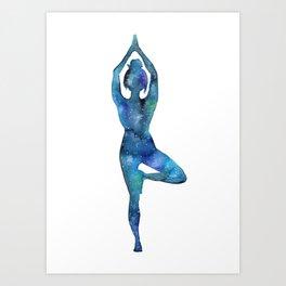 Tree Pose Art Print