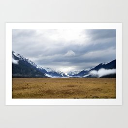 The Home of the Long White Cloud on the Road to Milford Sound Art Print