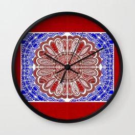 RWB Bandanna Wall Clock
