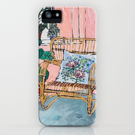 Cane Chair After David Hockney iPhone Case