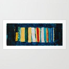 Cook Book Shelf Art Print