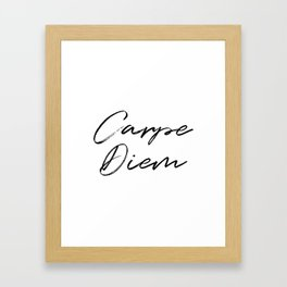 Carpe Diem V2 Framed Art Print