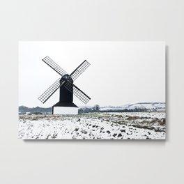 Winter Windmill Metal Print