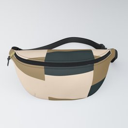 Building blocks geometric abstract Fanny Pack