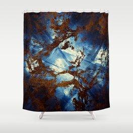 Sapphire & opal textures Shower Curtain