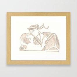 KissKiss Framed Art Print