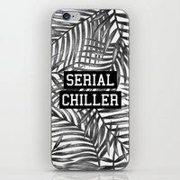 tupac iPhone & iPod Skins featuring Serial Chiller by Text Guy