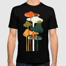 Little mushroom Mens Fitted Tee Black MEDIUM