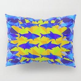 Blue Shark Sun Pillow Sham