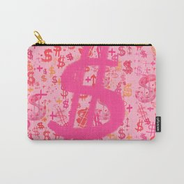 Pink Dollar Signs Carry-All Pouch