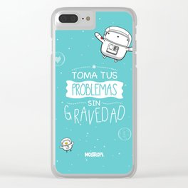 Gravedad Clear iPhone Case