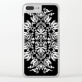Abstract Flora Clear iPhone Case